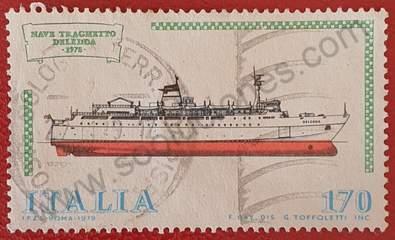 Nave Traghetto Deledda - Sello Italia año 1979