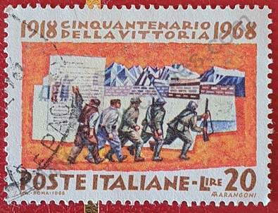 Movilización de tropas - Sello Italia año 1968