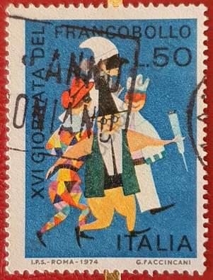 Máscaras de Carnaval - Día del sello - Italia 1974
