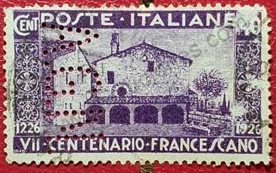 Iglesia y Convento San Damiano - Sello Italia 1929