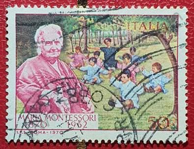 Sello de María Montessori - Italia 1970