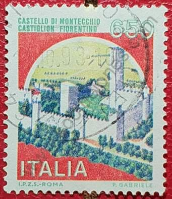 Castillo Montecchio - Sello Italia 1986