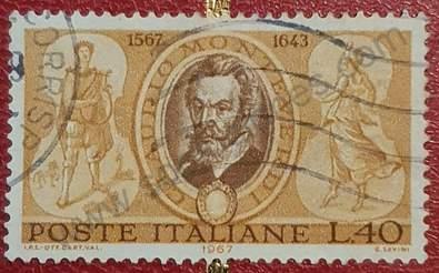 Sello de Claudio Monteverdi - Italia 1967