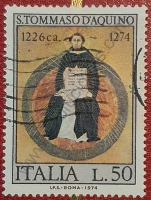 Sello Tomás de Aquino - Italia 1974