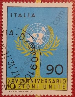 Aniversario ONU - Sello Italia 1970