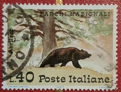 Sello con Oso Pardo - Italia 1967