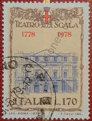 Sello de La Scala Opera de Milán - Italia 1978
