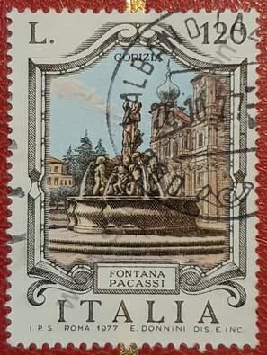 Sello Fuente Pacassi - Gorizia - Italia 1977