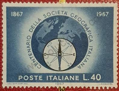 Sello Sociedad Geográfica Italiana - 1967