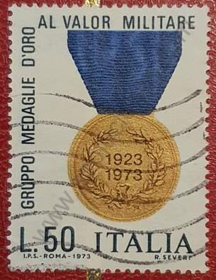 Medalla de oro al valor militar - Sello Italia 1973