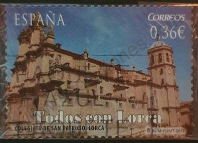 Sello Colegiata de San Patricio - España 2012