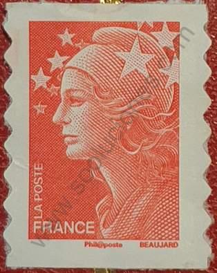 Sello Marianne Beaujard variante - Francia 2008