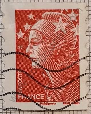 Marianne borde dcho 1-5mm - sello Francia 2008