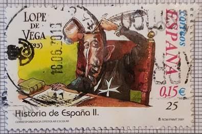 Lope de Vega - Sello España 2001