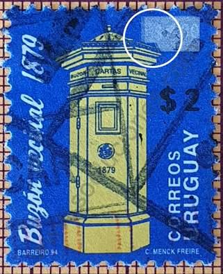 Buzón vecinal sobre marcado - sello Uruguay 2007