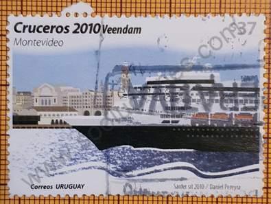 Sello Crucero Veendam - Uruguay 2010
