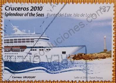Crucero Splendour of the Seas - Sello Uruguay 2010