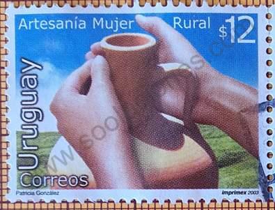 Alfarería - sello de Uruguay año 2003
