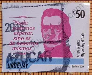 Sello Busto de Artigas $50 - Uruguay 2014