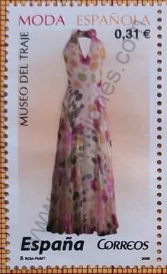Vestido con lunares y flores - Sello España 2008