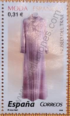 Vestido abrigo en crepe rosa - Sello España 2008