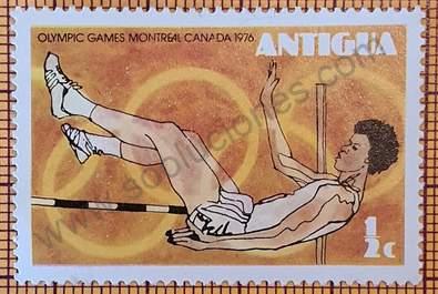 Sello Salto de altura - Antigua 1976