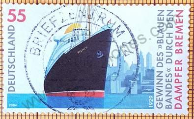 """Barco """"Bremen"""" - sello Alemania 2004"""