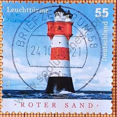 Faro de Roter Sand - Sello Alemania 2004