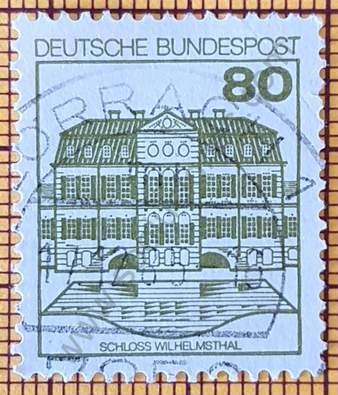 Castillo de Wilhelmsthal - Sello de Alemania 1982