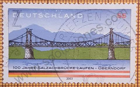 Puente sobre río Salzach - Sello de Alemania año 2003