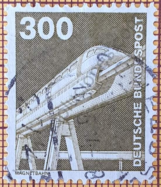 Tren monorraíl Maglev - Estampilla de Alemania año 1982