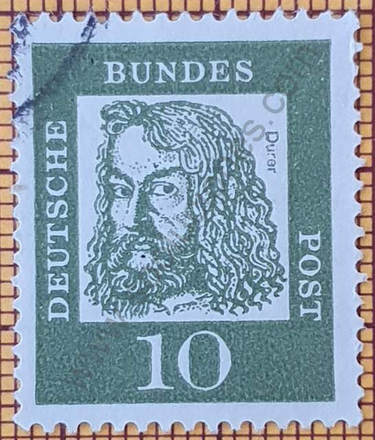 Albrecht Dürer - Pintor - Sello de Alemania año 1961