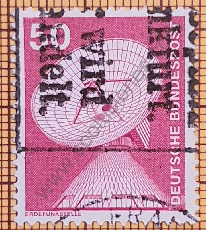 Sello Estación terrena de Raisting - Alemania año 1975
