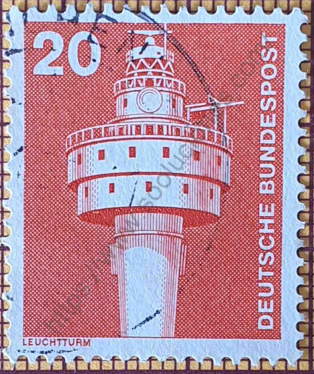 """Faro """"Alte Weser"""" - Estampilla de Alemania año 1976"""