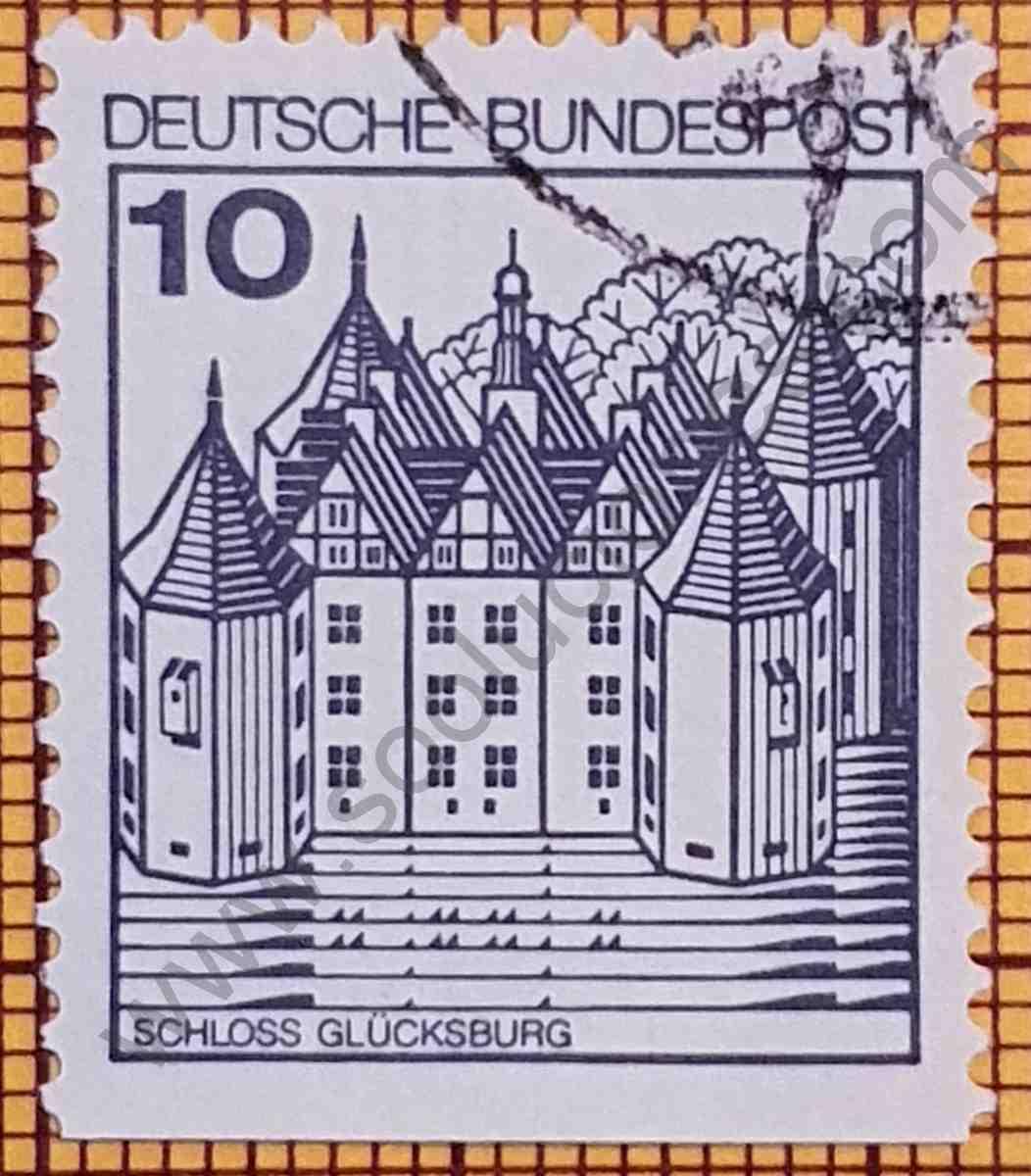 Castillo de Glücksburg - sello de Alemania año 1990