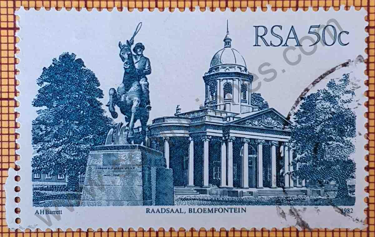 """Salón del Consejo """"Raadsaal"""" - Sello de Sudáfrica año 1983"""
