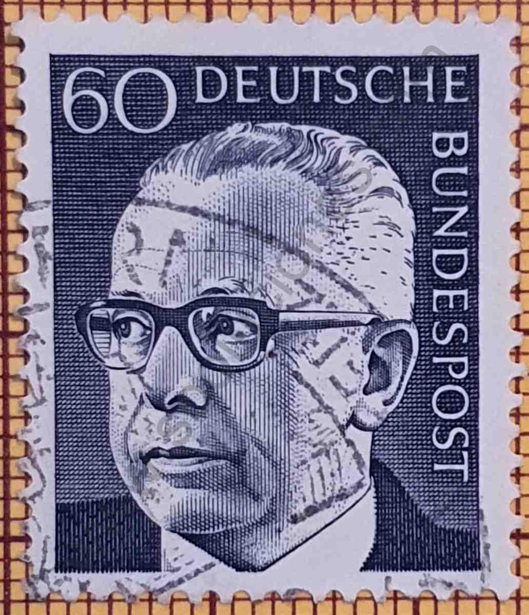 Dr. Gustav Heinemann 60Pf - Estampilla de Alemania de 1971