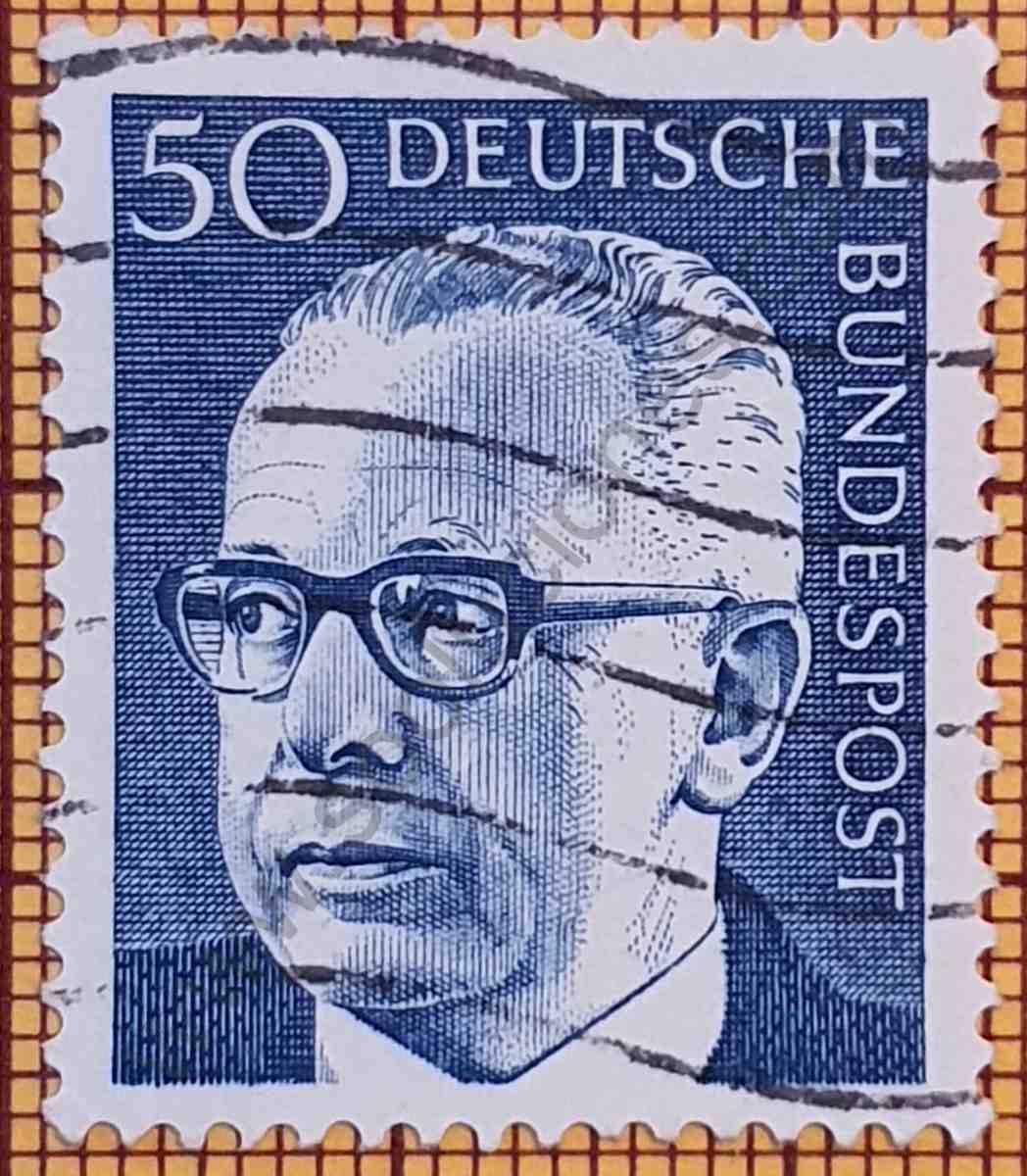 Gustav Heinemann 50Pf - Estampilla Alemania año 1971