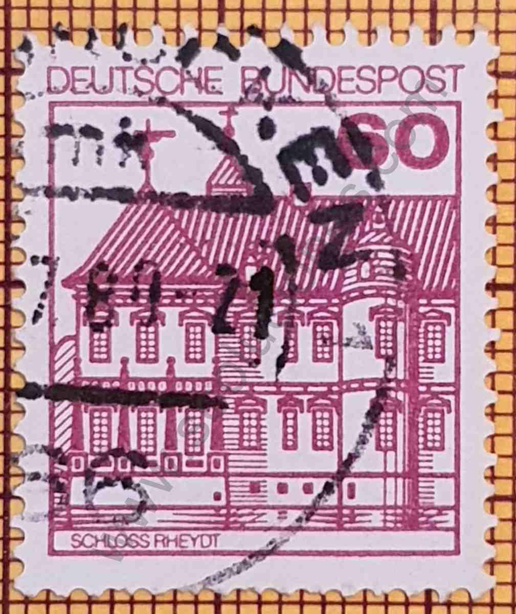 Castillo Rheydt - Sello de Alemania año 1979