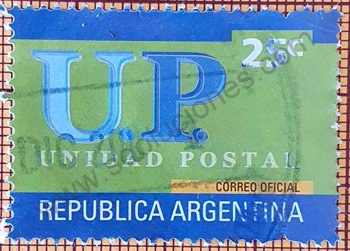Estampilla Unidad Postal 25c Argentina año 2002