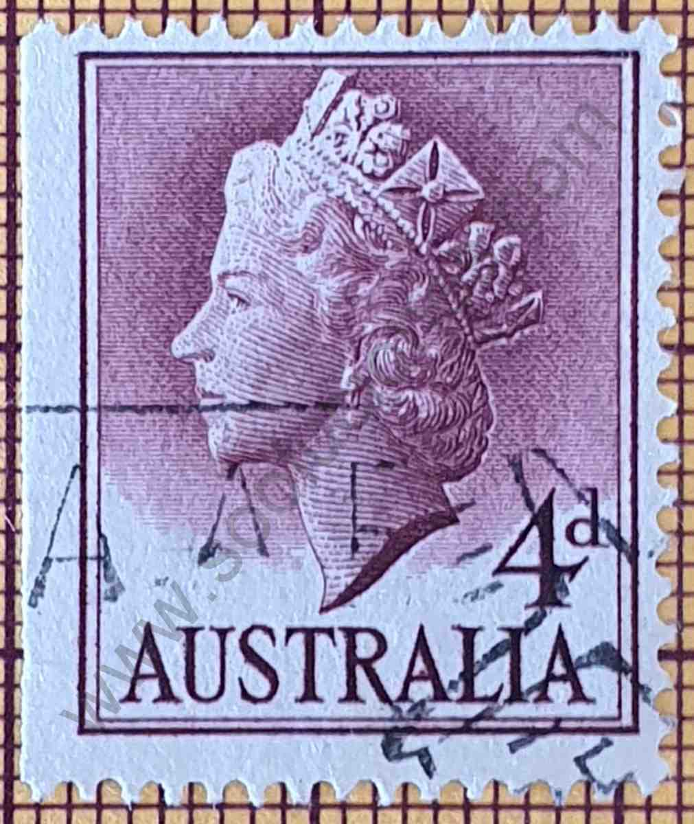 Estampilla Isabel II 4d - Australia 1957