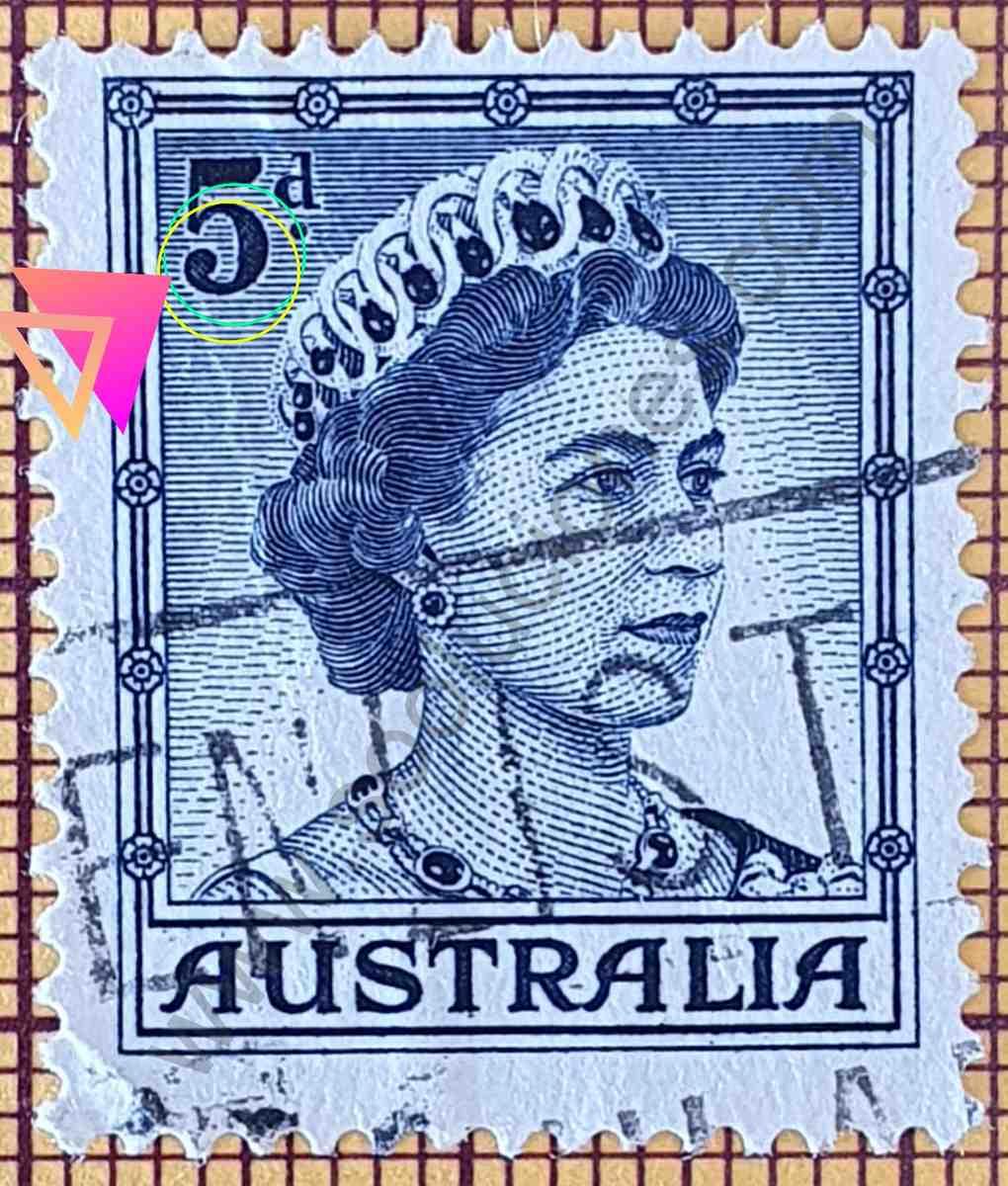 Elizabeth II 5d - Sello de Australia año 1959