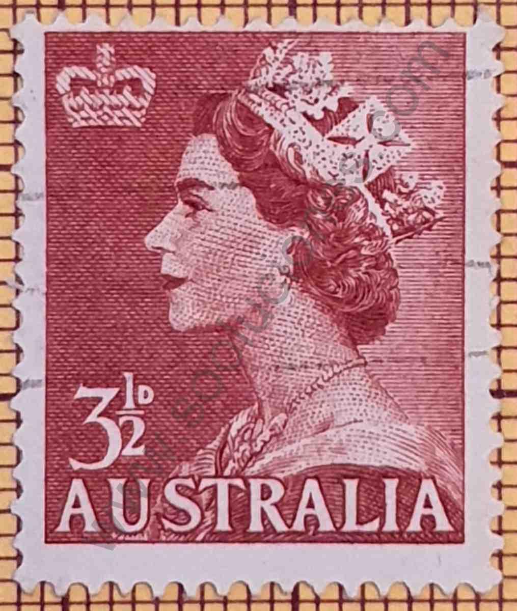 Elizabeth II sello de Australia año 1956