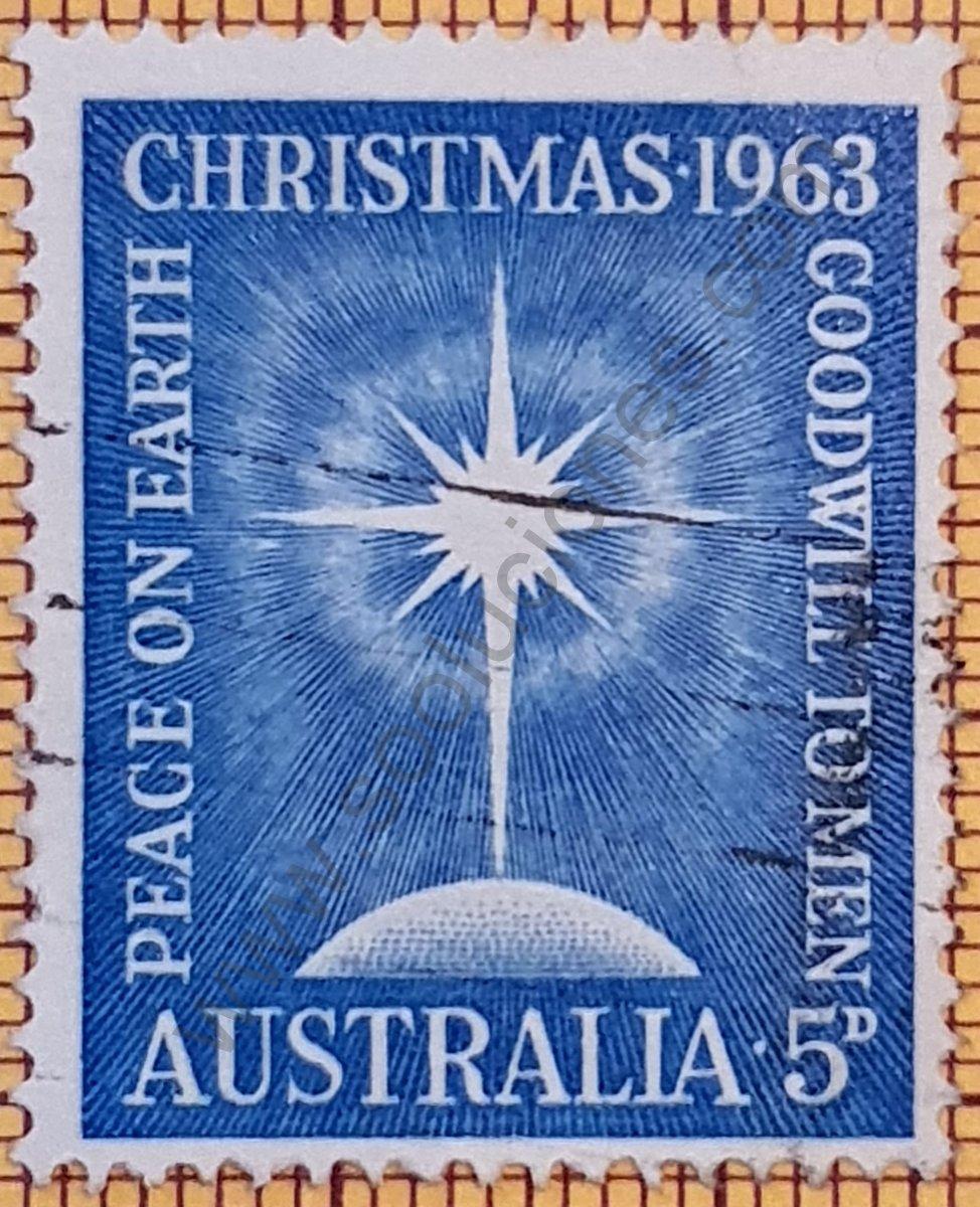 Navidad 1963 - Estampilla de Australia