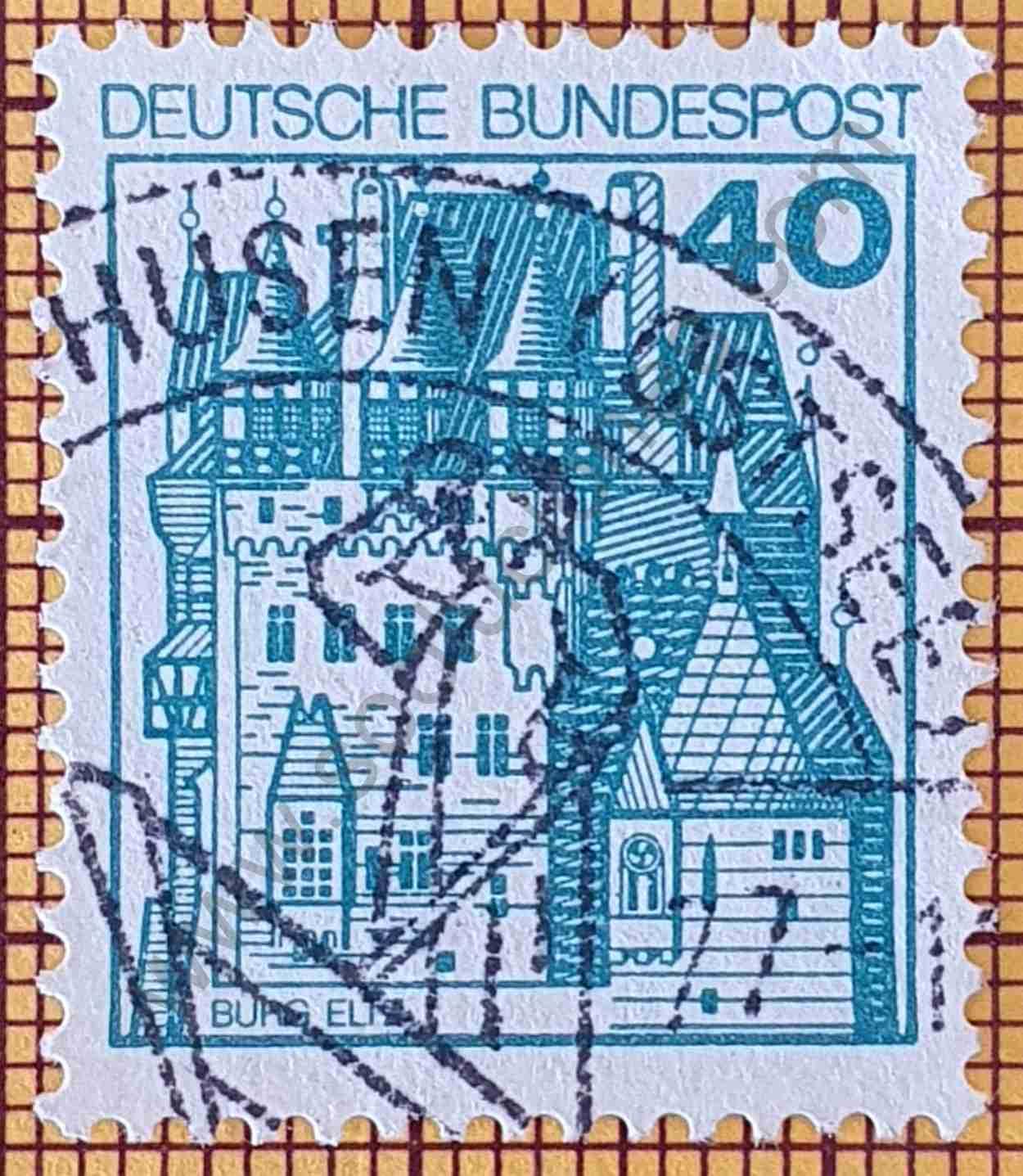 Sello Castillo Eltz de Alemania año 1977