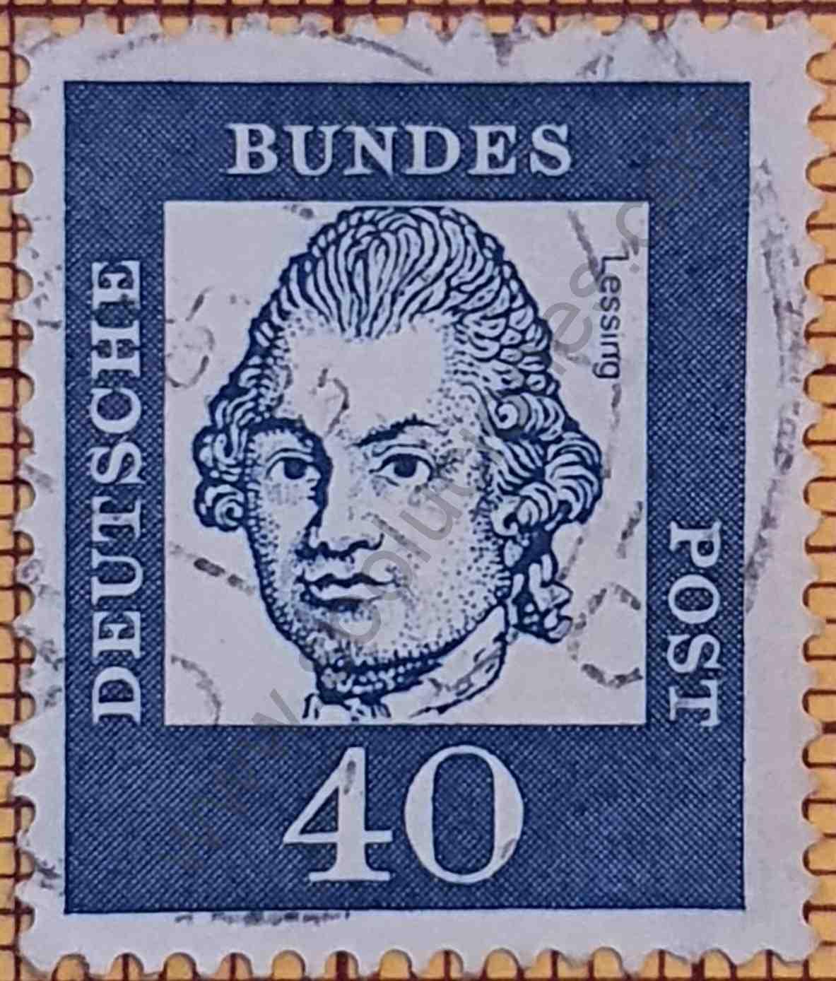 Gotthold Ephraim Lessing - Sello Alemania año 1961