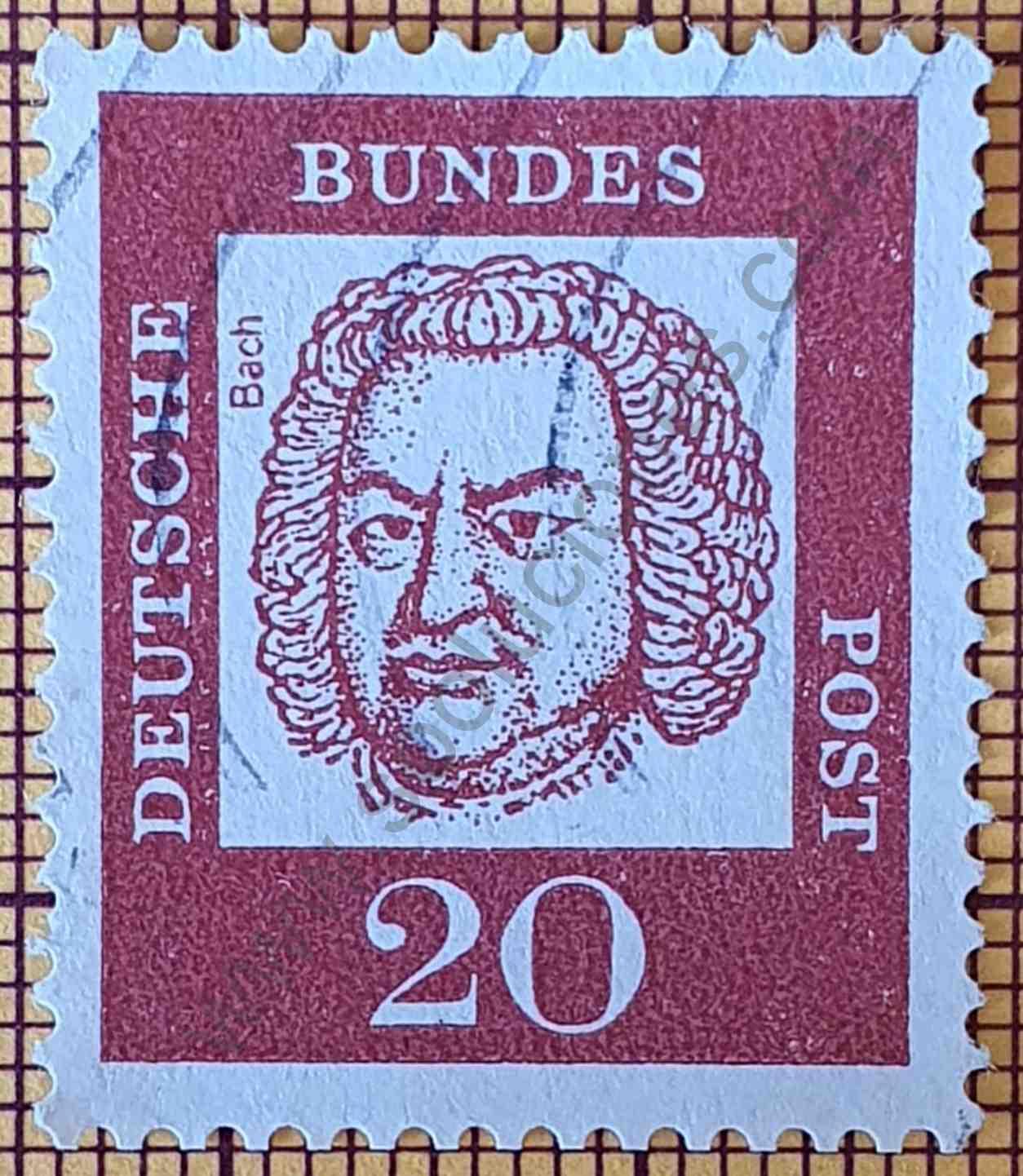 Johann Sebastian Bach - Sello Alemania 1961