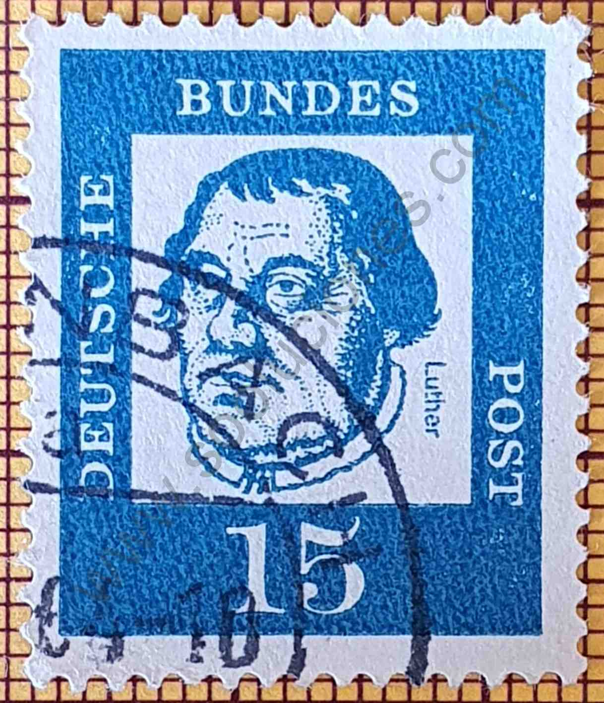 Martin Luther - Sello Alemania año 1961
