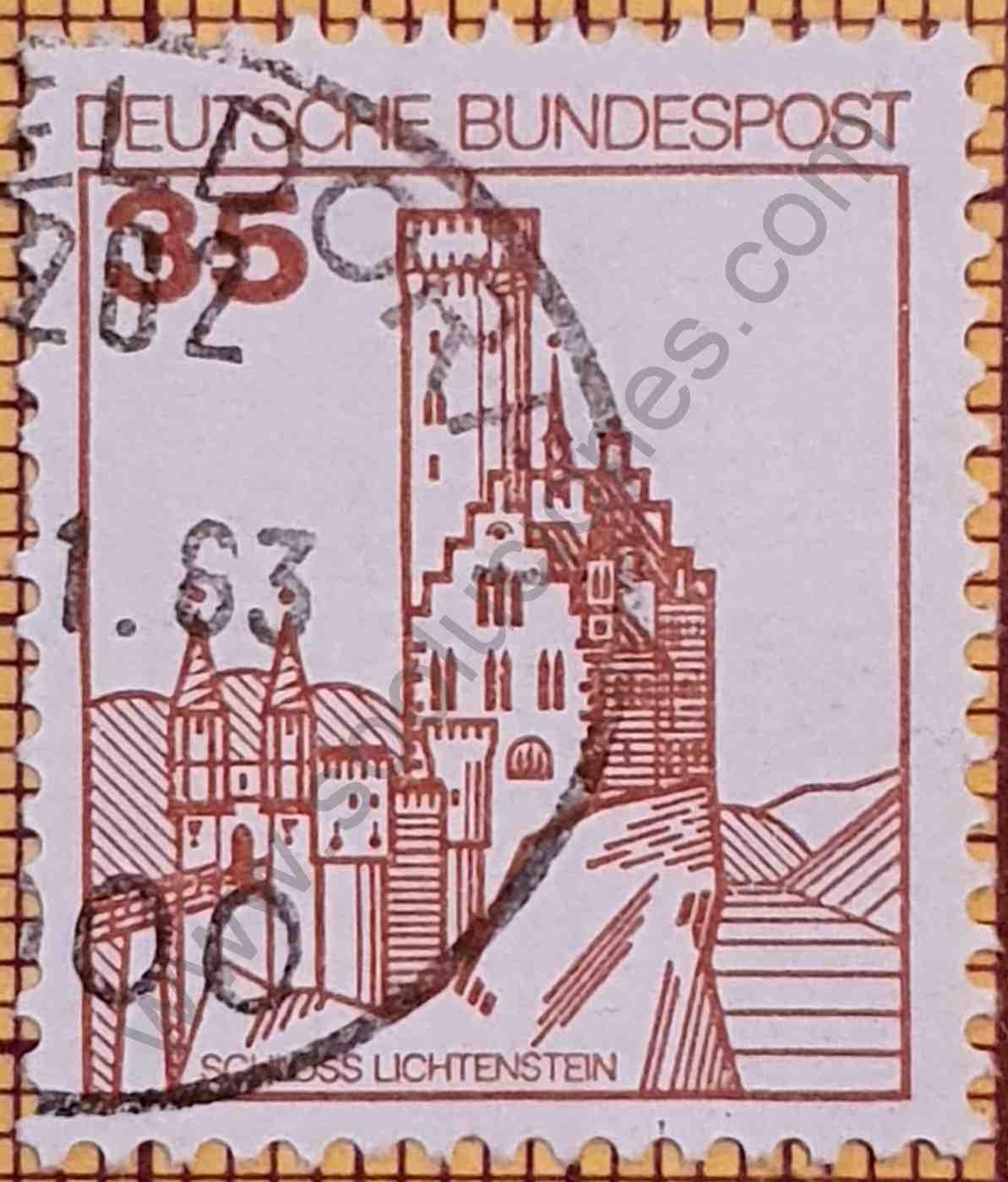 Castillo Lichtenstein - Sello de Alemania año 1982
