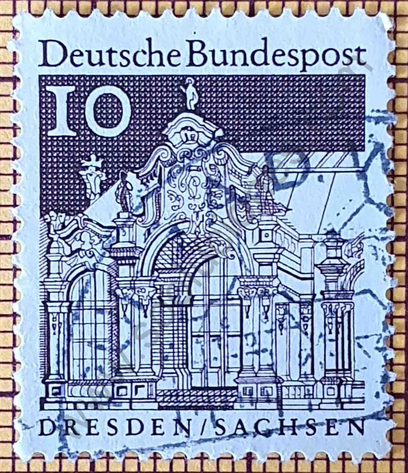 Pabellón Zwinger - Estampilla de Alemania año 1967